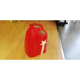 """Laser 104"""" red , cowl NEW (paint defect)"""