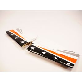 "89"" Slick - Empenages, orange"