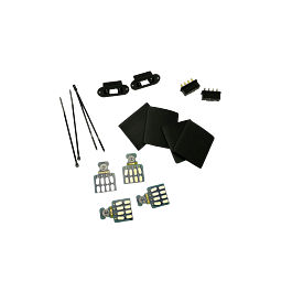 Emcotec - Vleugelconnectoren 8 pinnen, 2 paar met PCBs an fastening
