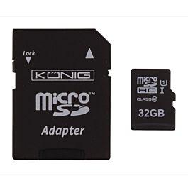 Micro SD card 32GB + adaptor class 10