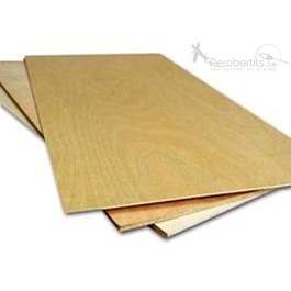 Plywood Sheet (Birch) 6x250x500mm