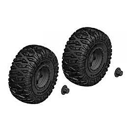 Team Corally - Tire and Rim Set - Truck - Black Rims - 1 Pair