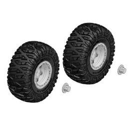 Tire and Rim Set - Truck - Chrome Rims - 1 Pair