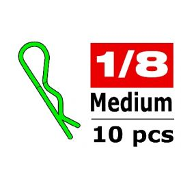 body clips medium 45° bent green