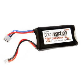 7.4v 350mAh 2S LiPo Battery: PH 2.0