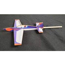 Extreme Flight Extra Orange/White/Blue Scheme Stick Plane