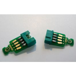 Servo connectors 8pin, plug & socket, 2 pairs with PCBs & fasteners