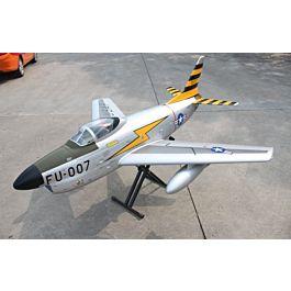 Pilot F86D jet 2.2m w tailpipe, tank, retracts - scheme 2 FULL OPTION