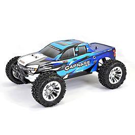 FTX Carnage 2.0 1/10 Brushed Truck 4WD RTR - Bleu