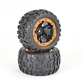 FTX Tracer Monster Truck, Wheels/Tyres complete (1 pair)