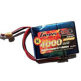 GensAce 4000mAh 2S 7.4V 25C LiPo Battery Tx spektrum