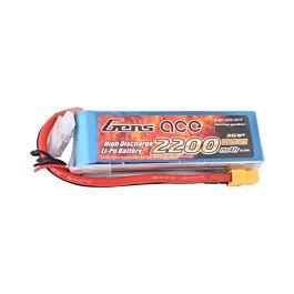 3S 2200mAh 45C Gens Ace lipo battery with XT60