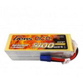 GensAce 5100mAh 6S 22.2V 80C LiPo Battery