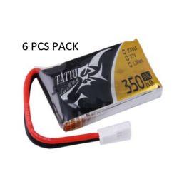 Tattu 350mAh 1S 3.7V 30C (Molex plug) (6 pcs)