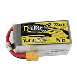 Tattu R-line 1400mAh 6S 22.2V 120C Lipo Batterij