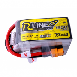 6S 1800mAh 95C Tattu R-Line Lipo Battery (XT-60)