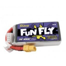 3S 1300mAh 100C Tattu Funfly lipo battery (XT-60)