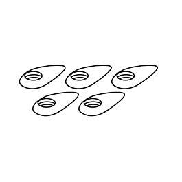 Rondelles aerodynamique pour vis M4 (5pcs)