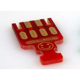 MPX PCB 4 Pins, 5 pieces RED