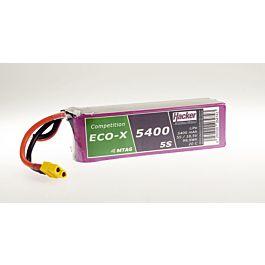 Hacker TopFuel ECO-X Comp. 5400mAh 5S 18.5V 20C LiPo Batterij (MTAG)