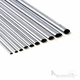 Tube aluminium aérodynamique 12,7x1000mm