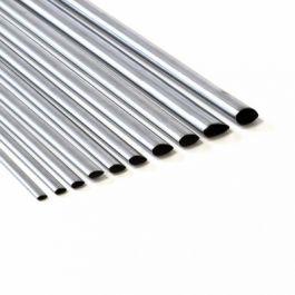 Aluminium tube streamline 12.7x1000mm