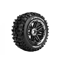 Louise RC - ST-PIONEER 1/8 Stadium Truck Tyres HEX 17mm black/chrome