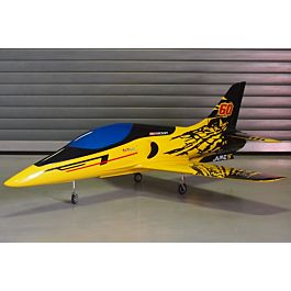 Krill - Mini Ares full composite Yellow/Black (with Retract Set)