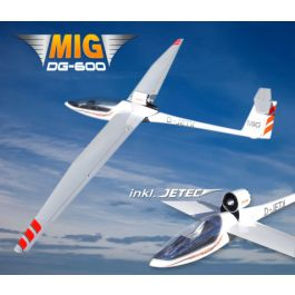 MIG Flight DG-600 3.4m w 80mm retractable EDF, ESC and servos (PNP)
