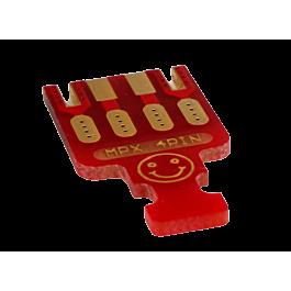 Emcotec - MPX PCB 4 Pinnen, 5 stuks Rood