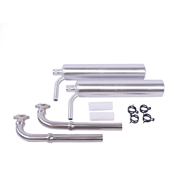 MTW Muffler Set for DA215 (with TD130 and knuckle headers)