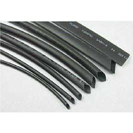 Shrinking tube 6mm black (1m)