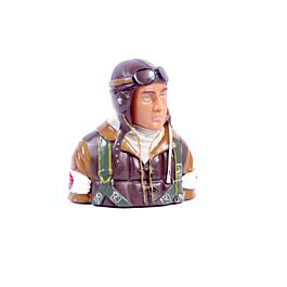 1/5 WWII Japanese bust pilot