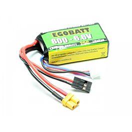 6.6V 800mAh LiFe Battery Egobatt (25C)