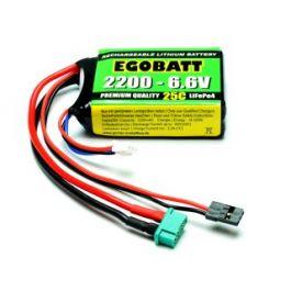 6.6V 2200mAh LiFe Battery Egobatt (25C)
