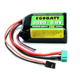 6.6V 3000mAh LiFe Battery Egobatt (25C)