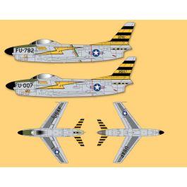 Pilot F86D jet 2.2m met pipe, tank en retracts - kleurenschema 2