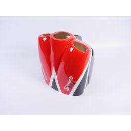 """Sbach 342 122"""" Noir/Blanc/Rouge, Capot moteur"""