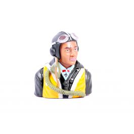 1/5 WWII German bust pilot