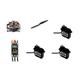 RC-Factory Equipment set for MINI series (Motor/ESC/Servo's/Prop)