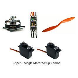 RC-Factory Equipment Set for Grippen (Single Motor Setup)