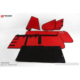 "Revoc coverset for Pilot 150"" Decathlon RED (with holes for struts)"