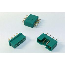 Servo connectors 8pin, plug & socket, 2 pairs