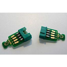 Servo connectors 8pin, plug & socket, 2 pairs with PCBs