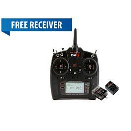 DX6 6-Channel DSMX G3 w AR6600T + FREE AR610