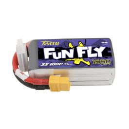 3S 1550mAh 100C Tattu Funfly Lipo with XT60