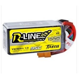 Tattu R-Line 1550mAh 95C 4S1P Lipo Battery Pack with XT60