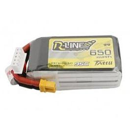 Tattu R-Line 650mAh 14.8V 4S1P 95C Lipo Batterij