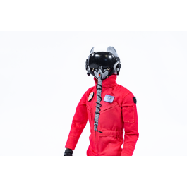 1/6 Fullbody Jet pilot with helmet (red uniform)