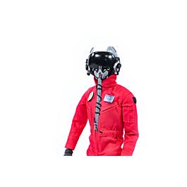 1/6 Fullbody Jet pilot with helmet (red uniform)